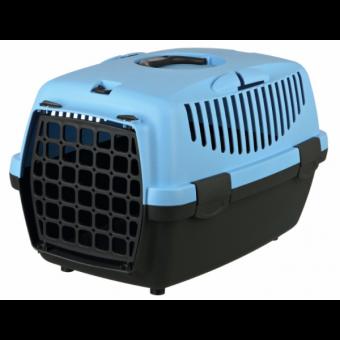 Trixie Transportbox Capri | dunkelgrau-pastellblau XS: 32 × 31 × 48 cm