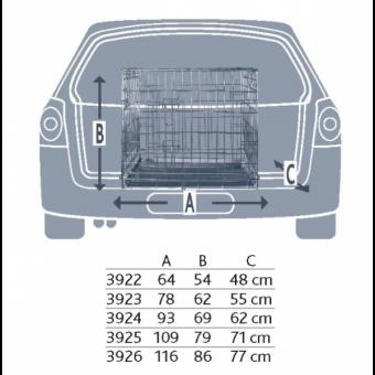 Trixie Transportkäfig M: 78 × 62 × 55 cm