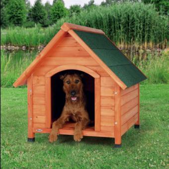 Trixie natura Hundehütte Cottage mit Satteldach   natur M: 77 × 82 × 88 cm