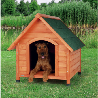 Trixie natura Hundehütte Cottage mit Satteldach | natur M: 77 × 82 × 88 cm