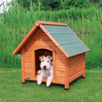 Trixie natura Hundehütte Cottage mit Satteldach | natur S-M: 71 × 77 × 76 cm