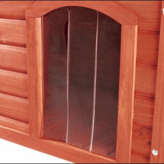 Trixie natura Kunststofftür für Flachdach-Hundehütte S-M: 22 × 35 cm
