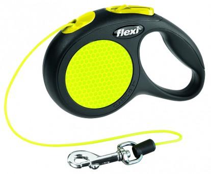 flexi New CLASSIC Neon | Seil | schwarz-neon