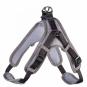 Hunter Geschirr Neopren Vario Quick | reflektierend | schwarz-grau, Größe: XL - 79-100 cm - 25 mm