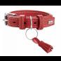 Hunter Halsband Cannes | Leder | rot, Größe: 35 - 19-27 cm - 18 mm