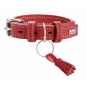 Hunter Halsband Cannes | Leder | rot, Größe: 55 - 39-47 cm - 35 mm