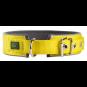 Hunter Halsband Neopren Reflect | gelb-grau, Größe: 60 - 49-56 cm - 45 mm