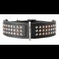 Hunter Halsband San Diego | Leder | schwarz, Größe: 45 - 38-43,5 cm - 33 mm