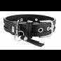 Hunter Halsband Sansibar Special | Leder | schwarz, Größe: 50 - 35-42 cm - 28 mm
