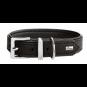 Hunter Halsband Vega | Kunstleder | schwarz, Größe: 40 - 28-34 cm - 22 mm