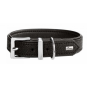 Hunter Halsband Vega | Kunstleder | schwarz, Größe: 45 - 32-40 cm - 28 mm