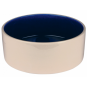 Trixie Keramiknapf | creme-blau, Größe: 2,3 l  /ø 22 cm