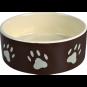 Trixie Keramiknapf mit Pfoten | braun-creme, Größe: 0,3 l/ø 12 cm