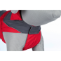 Trixie Regenmantel Lorient | rot-grau, Größe: S: 40 cm