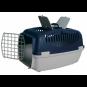 Trixie Transportbox Capri | dunkelgrau-pastellblau, Größe: S: 40 × 38 × 61 cm