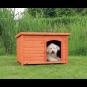 Trixie natura Hundehütte Classic mit Flachdach | braun, Größe: M-L: 104 × 72 × 68 cm