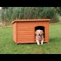 Trixie natura Hundehütte Classic mit Flachdach | braun, Größe: L: 116 × 82 × 79 cm