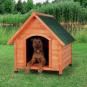 Trixie natura Hundehütte Cottage mit Satteldach | natur, Größe: M: 77 × 82 × 88 cm