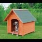 Trixie natura Hundehütte Cottage mit Satteldach | natur, Größe: L: 96 × 105 × 112 cm