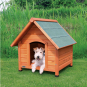 Trixie natura Hundehütte Cottage mit Satteldach | natur, Größe: S-M: 71 × 77 × 76 cm
