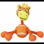 Trixie 4 Figuren mit Tau und Tennisball | Plüsch 16 cm | Vorteilspack