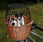 Trixie Fahrradkorb mit Gitter natur | 44x48x33 cm
